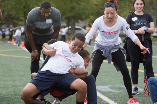 Under Armour Chicago and Parisi Speed School ran teambuilding stations for OWLS boys and girls.